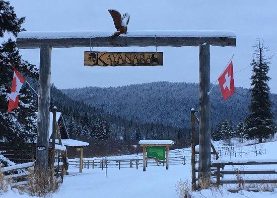 Eagle Creek, Canada: Wer in den Wintermonaten nach Kanada reist, sollte die KAYANARA Ranch unbedingt mi einbinden 😊