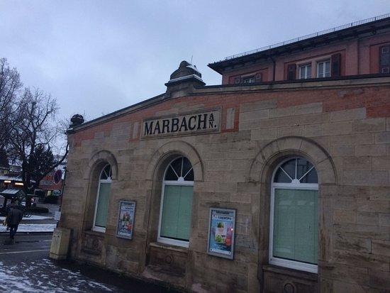 Marbach am Neckar, Alemania: Stazione del treno
