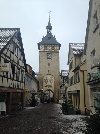 Marbach am Neckar, เยอรมนี: Torre dell'orologio Marbach