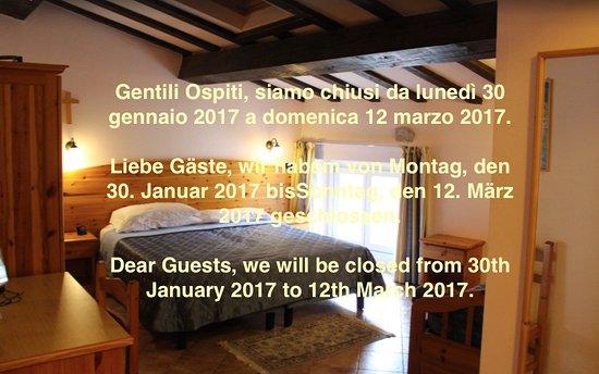 Hotel Vittoria : chiusura da gennaio a marzo