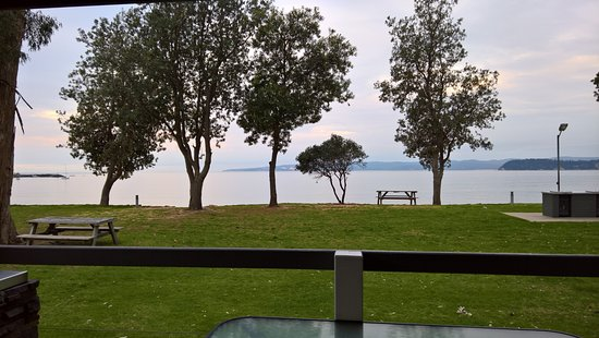 Eden, Australia: View from the deluxe beachfront cabin