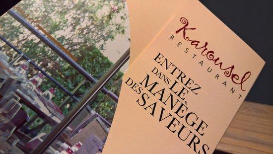 Lunel, France : Impression Speisekarte
