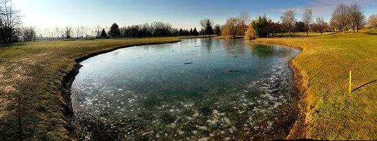 Green Club Golf Lainate : Foto del percorso - laghetto ghiacciato