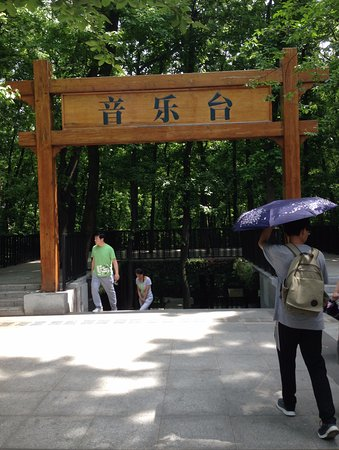 Zhongshanling Bandstand: 中山陵の反対側に入口があります。