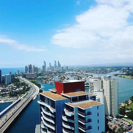 Southport, Australia: view from my suit on 36th floor