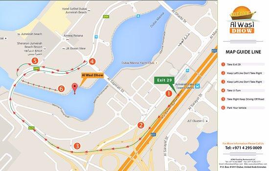Al Wasl Dhow Route Map - Bild von Al Wasl Dhow Floating ...