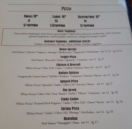 Enfield, Κονέκτικατ: Pizza Menu