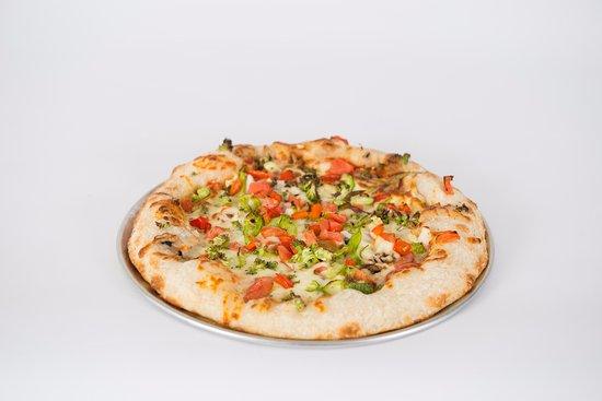 Rouyn-Noranda, Canada: Notre fameuse pizza!