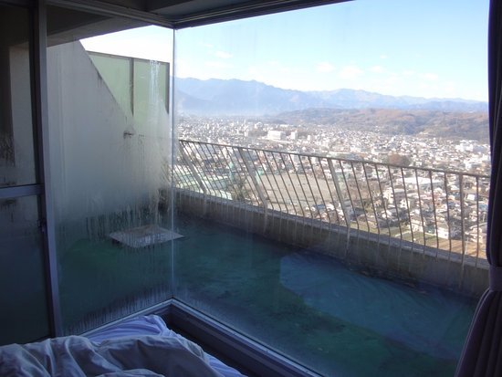 Natural Farm City Noen Hotel : 別館部屋(ベッド)からの眺望