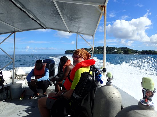 Scuba Steve's Diving Ltd.: Traveling to first dive site on the Volan