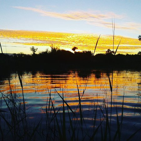 Sunset Govuro Wetlands 30km west of Vilanculos with Vilanculos Canoe Trails
