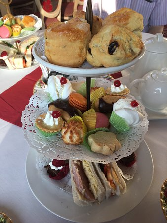 Banbridge, UK: Afternoon Tea for two! (The extra in the background is because there were 3 of us!!)