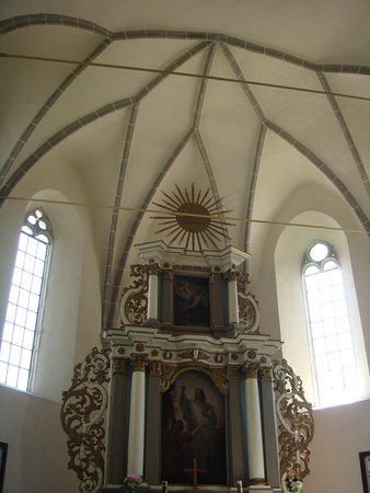 Saschiz, Rumunia: Inside the church.