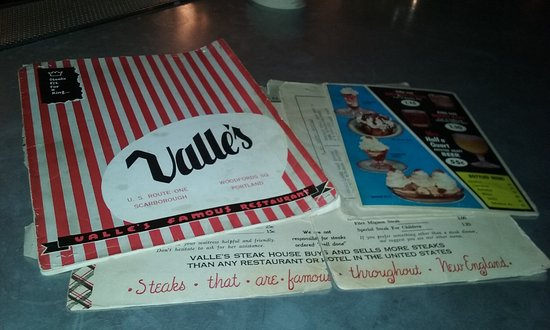 Woodford F B Old Menus From The Former Restaurant Valle S Steak House
