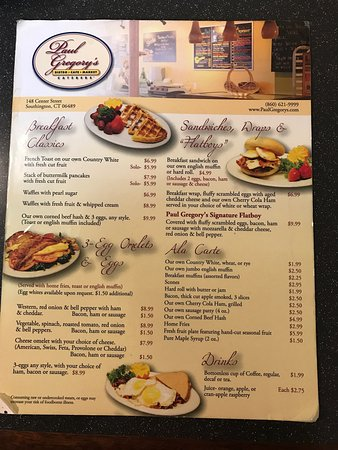 Southington, CT: Their breakfast menu
