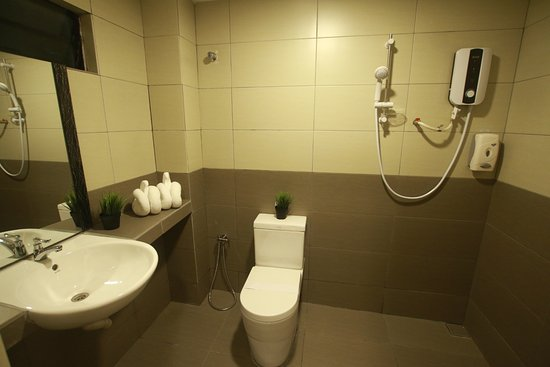 Deluxe Room & Family Room : Ensuite Bathroom With Hot Shower & Wc