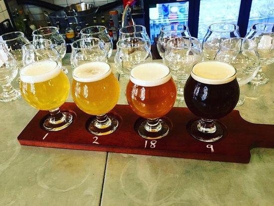 High Wycombe, UK: Flight of beer £6