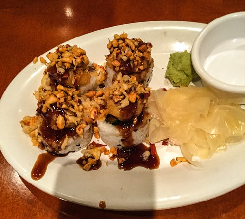 Lake Forest, CA: Kung Pao Shrimp Roll (Sushi)