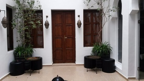Riad Chayma: The door to the Orange Suite