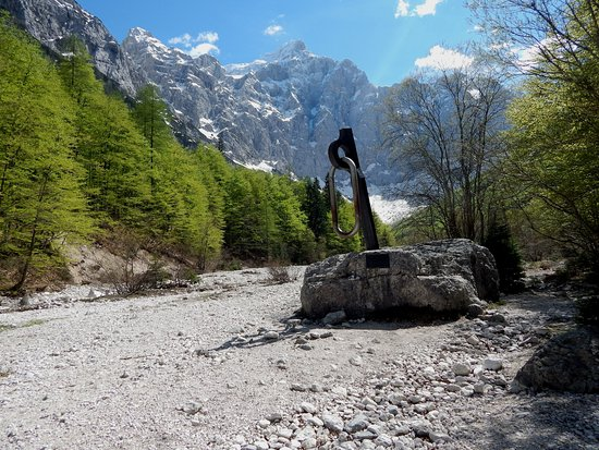 The North face of Triglav: North face and monument