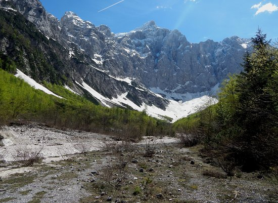 The North face of Triglav: Triglav from distance.