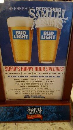 East Windsor, CT: Happy Hour Menu
