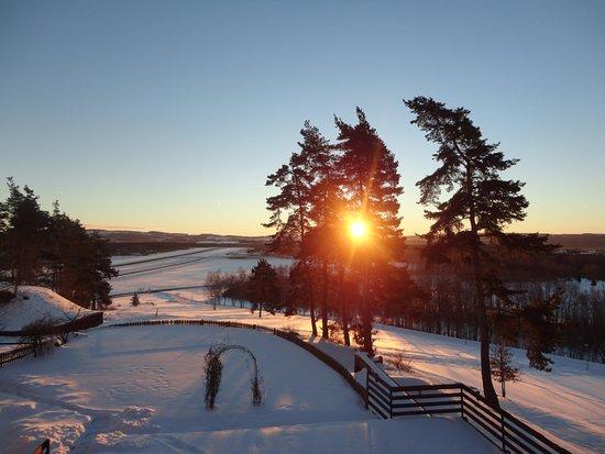 Hotel Vitkova Hora: východ slunce z pokoje
