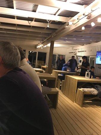 Sistranda, Norway: Rabben resturant marina uteservering