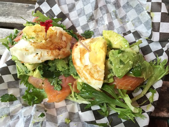 Wilton Manors, FL: Avocado Slider with Smoked Salmon and Eggs