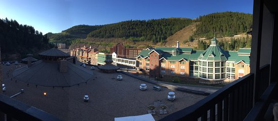 Black Hawk, CO: view from the top level parking of the hotel