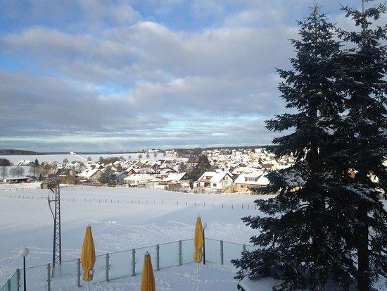 Schlosshotel Sophia: Uitzicht vanuit hotelkamer 203 tijdens onze midweek in januari 2017