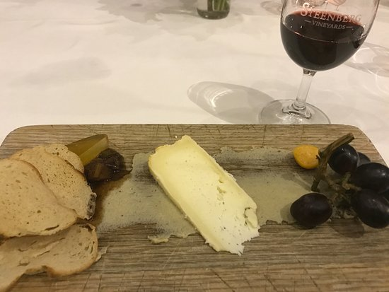 Catharina's Restaurant at Steenberg: Cheese Plate with Baba Garnish