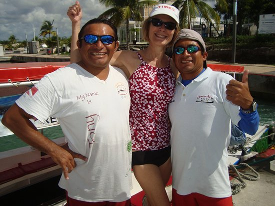 Cozumel Reef Snorkeling and Sailing Adventure: These guys are fun!