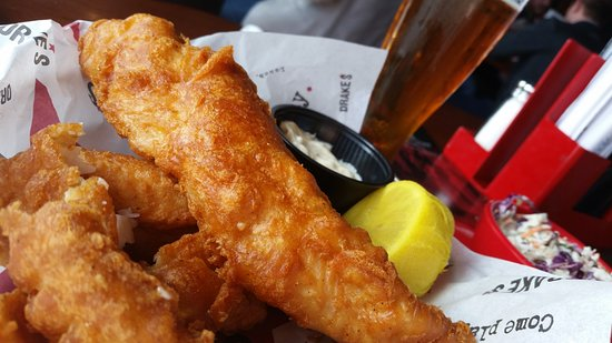 Franklin, TN: Ale-battered fish, coleslaw and Falls City Ale IPA