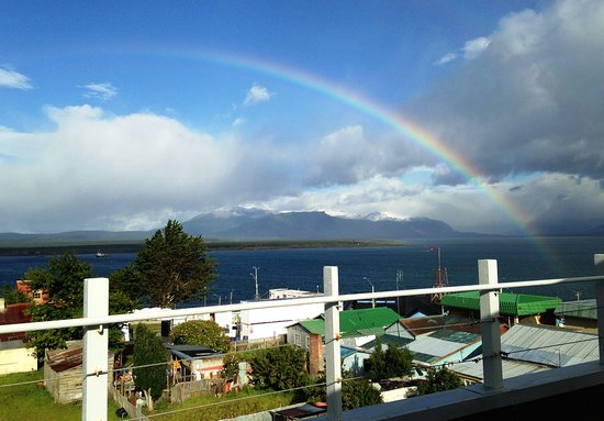 Hotel IF Patagonia: Our farewell rainbow from the rooftop of Hotel IF