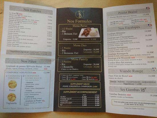Argenteuil, France: menu recto