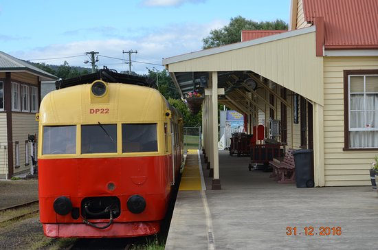 Don River Railway: Waiting for departure at the station
