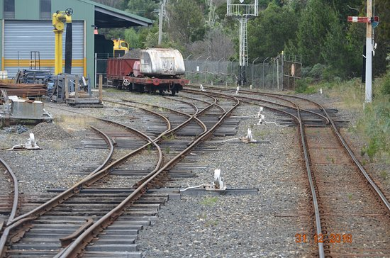 Don River Railway: Rail yard with numerous switches