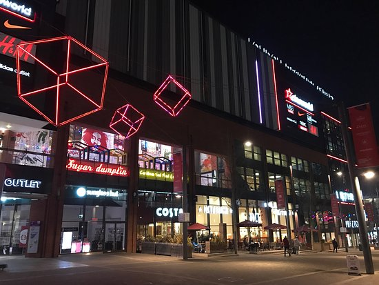 Wembley, UK: LDO and Cineworld at night