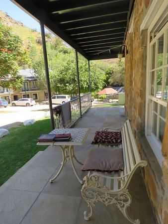 The Baths: We love the veranda and the new furniture.