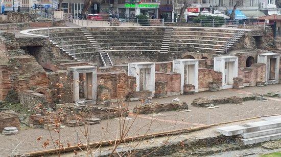 The Greek Agora and Roman Forum : Mini colosseum