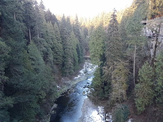 North Vancouver, Kanada: view from the suspended bridge