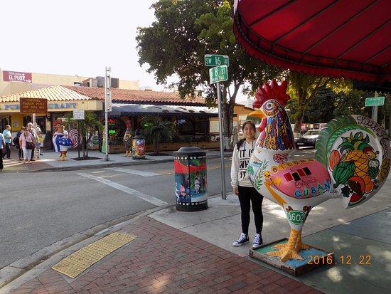De Visita En La Calle Ocho Miami Beach