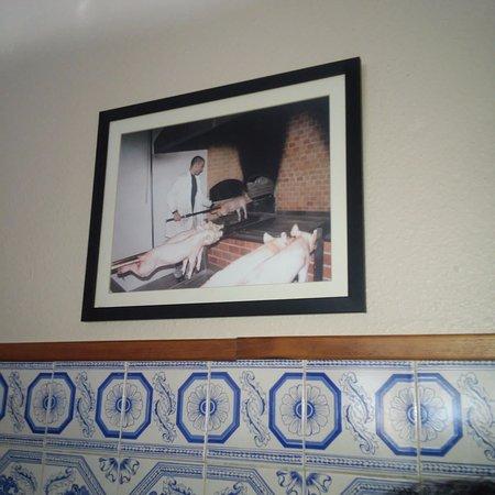 Pombal, Portugal: foto do preparo do leitão