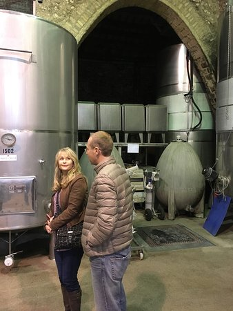 Sant Pau d'Ordal, إسبانيا: Nice Cellar Tour and Tasting. It was chilly outside, will return in the spring!