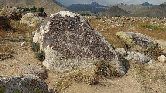 Cholpon Ata, Kyrgyzstan: nicht alle Felszeichnungen sind so gut zu sehen