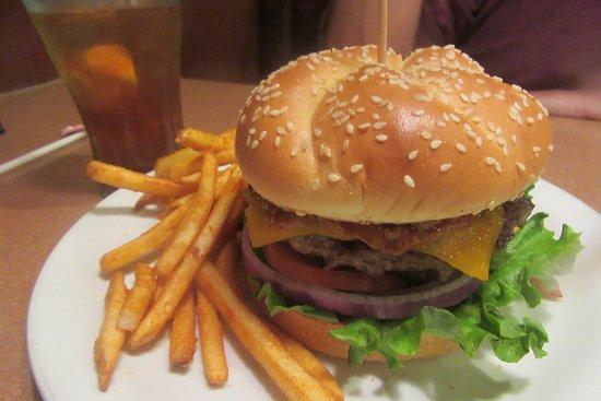 Hamburger and Fries, Denny's, Milpitas, Ca