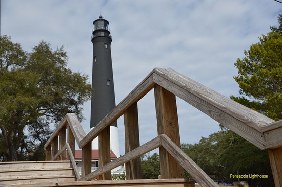 Pensacola Lighthouse and Museum: View from the beach access point