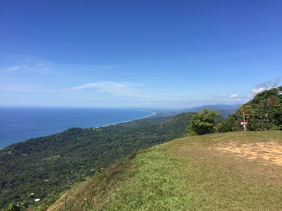 Dominical, Kosta Rika: View from take off pad