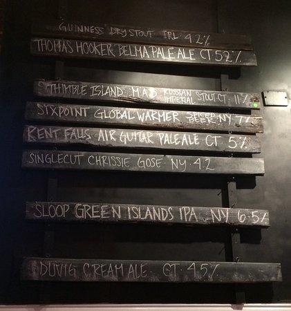 Cromwell, CT: Sloop Brewery, very nice!